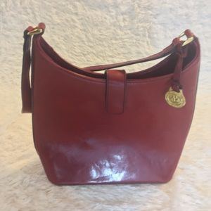 Red Brahmin Purse with Duster